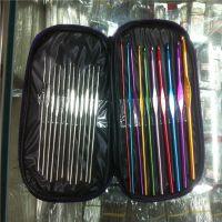 编织工具  高档套装不锈钢铝钩针22根装  毛衣针批发