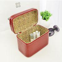 专业小巧便携女士化妆箱 韩版漆皮化妆包 手提定型首饰箱