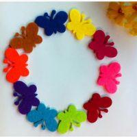 幼儿园教室布置装饰墙面装修贴纸贴画儿童卡通玻璃双面贴花朵蝴蝶