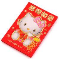 【6只装】混款Kitty红包/烫金图案新年利事封/2319