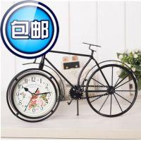 自行车造型 静音 创意时钟/铁艺钟表/时尚钟表 卧室办公桌座钟