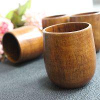 厂家直销天然环保实木大肚水杯 功夫茶木质杯子 高档精美大肚杯