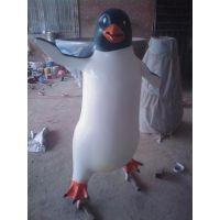 厂家定做 玻璃钢动物雕塑工艺品 景观园林装饰品摆件 仿真企鹅