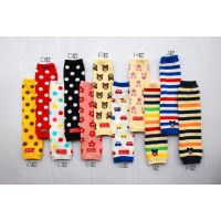 001日本官网热销儿童袜套 宝宝纯棉长护膝 婴儿长袜套批发11色