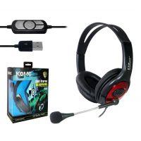正品 科麦 USB-B4 USB电脑耳机 时尚耳机头戴式独立声卡 游戏耳机