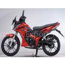Chain Drive Red Honda Motorbike Wind Cooled , Kick Start