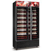雅绅宝压缩机不锈钢红酒柜 立式两门红酒柜 酒柜定做尺寸 酒窖红酒展示柜