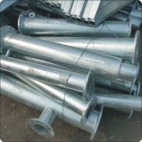 提供建筑立柱 广告柱 楼梯立柱热镀锌加工服务