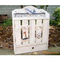 地中海风格海洋电表箱 遮挡箱 可视电话机箱 木制壁挂 家居饰品