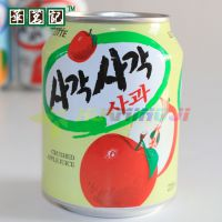 HAO进口休闲零食品批发 韩国乐天 苹果汁饮料 听装238ml*12
