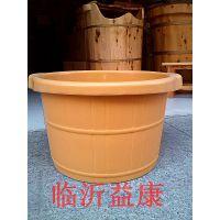 厂家直销 洗脚树脂泡脚桶 橡胶洗脚桶 足浴桶 仿木桶 塑料足疗盆