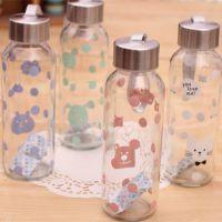 韩国文具 包包宝250ml直身型手提玻璃水杯 玻璃杯 被子 1971