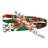厂家供应两头扣热转印工作挂绳 胸卡挂绳 高质量 样式多款