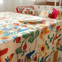 民族风马 简约茶几桌布 家用纯棉帆布格子台布 厂家批发 窗帘用品