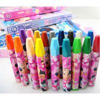 联众【满优惠】儿童美术用品18色迪士尼彩色油画棒套装批发DM6476