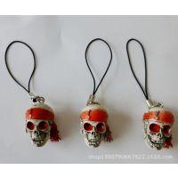 可爱挂件 创意挂件 红头巾骷髅手机链 红头巾骷髅手机挂件