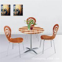 上品厂家直销[SP-DST966]奶茶店咖啡厅甜品店冷饮店成套桌椅 一桌两椅