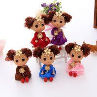 厂家直销12cm搪胶迷糊娃娃挂件 创意礼品赠品批发 多色混批