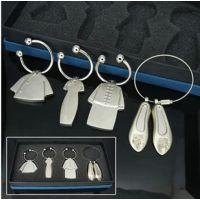 115630中国古典服装钥匙扣(大)套装企业礼品定制 激光加印logo