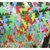 节日活动庆典装饰彩旗 活动现场布置三角彩色旗子 串旗 三角旗