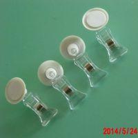 供应新款 塑料透明夹子 可粘贴圆盘标签夹