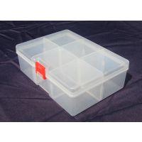 6格 隔板 塑料盒 小五金工具 透明塑料 鱼钩盒 原件盒 配件盒