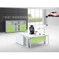 供应广州广时杰办公家具 主管经理办公桌 老板办公桌 钢架木质办公桌