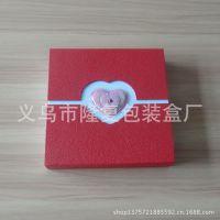 厂家生产加工双开门爱心纸盒 项链首饰纸盒 精美吊坠纸盒