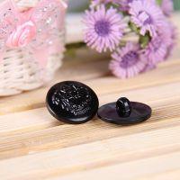 15MM~30MM黑色/双狮图案 abs塑料电镀纽扣【DIY手工材料】