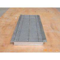4S店玻璃格栅板热镀锌钢格板(格栅板)不锈钢排水沟盖板钢梯踏步板