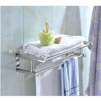 厂家直销卫浴挂件 不锈钢置物架 不锈钢毛巾架五金件浴巾架