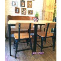 美式乡村仿古高靠背餐椅 实木餐厅家具椅子 办公椅单椅 厂家直销