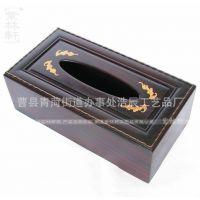 木质纸巾盒 创意家居用品抽纸盒 卫生纸盒 复古实木纸巾盒