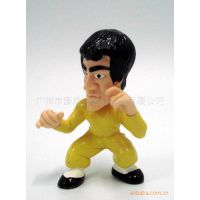 厂家订做PVC公仔塑胶玩具形象代表人物李小龙