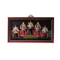 中号盒式半身5路财神组合 挂件饰品 礼品