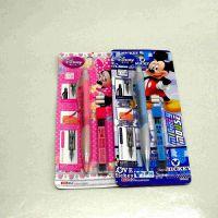 正品迪士尼米奇铅笔三角全自动铅笔 活动铅笔 2B/0.5
