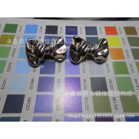 蝴蝶结型2.2CM塑料UV电镀纽扣