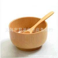竹碗儿童餐具宝宝碗天然无漆碗本色小号日式木碗汤碗特价批发
