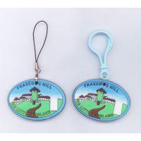 韩版 创意卡通迷你可爱轻泡房屋钥匙扣包包挂件 手机挂件钥匙圈