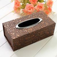 纸巾盒厂家直销卓雅高档pu皮革商务餐巾纸盒【创意纸巾盒】