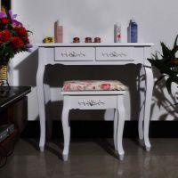 现代简约韩式田园书桌欧式时尚实木电脑桌写字台办公桌象牙白特价
