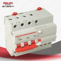 德力西 漏电保护断路器 3P+N C63  触电/漏保空开CDB9LE-63 63A