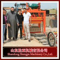 【厂家直销】各种砌块成型机、水泥砖机、非洲砖机、打砖机 QTJ4-40型胜亚砖机