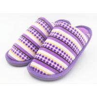 厂家直销特价秋冬季新款时尚棉拖鞋 彩色条纹拖鞋居家室内拖鞋