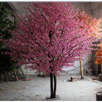 圣杰仿真桃花树大型假树供应商厂家直销酒店宾馆会所装饰用品