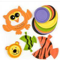 幼儿园diy纸盘手工制作材料*益智玩具一次性蛋糕盘彩色单面