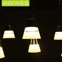 亮登led亚克力单头3W欧式美式餐厅客厅创意吊灯灯具现代简约铃铛款