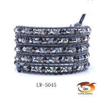 电镀水晶luu手链 缠绕手链 皮革串珠手链 速卖通/敦煌/ebey货源