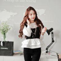 AYS88258秋冬新款女装韩版蓬蓬裙针织毛线吊带两件套打底衫套装