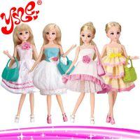 2014新款乐吉儿旗舰店时尚女孩洋布芭比娃娃套装礼盒正品玩具公仔